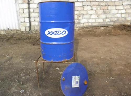 Коптильня из бочки 200 литров