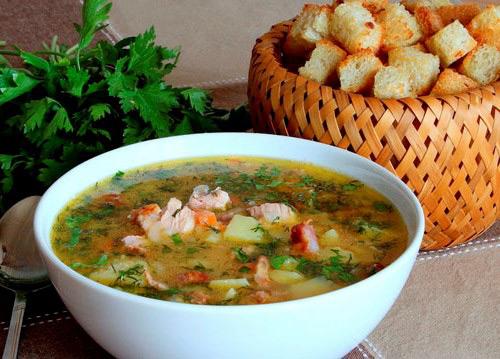 Ароматный суп с гренками