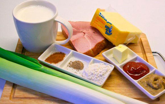 Примерный набор ингредиентов для сырного супа