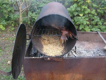 Процесс приготовления рыбы методом холодного копчения