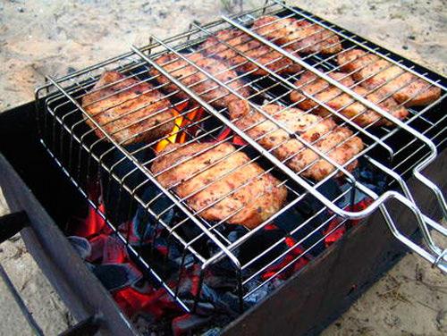 Угольный гриль-барбекю