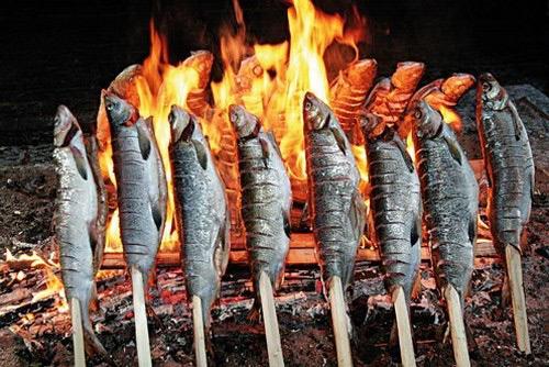 Копчение рыбы на костре