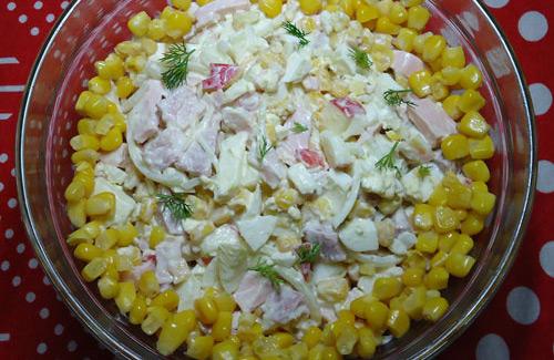 Салат из копчёного мяса