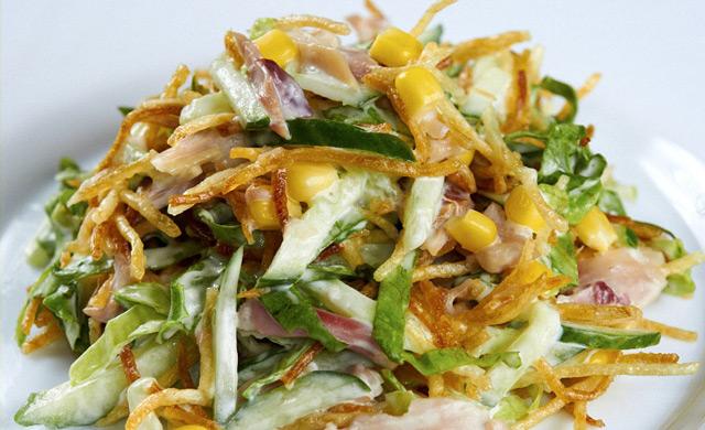 Салат из копчёной индейки