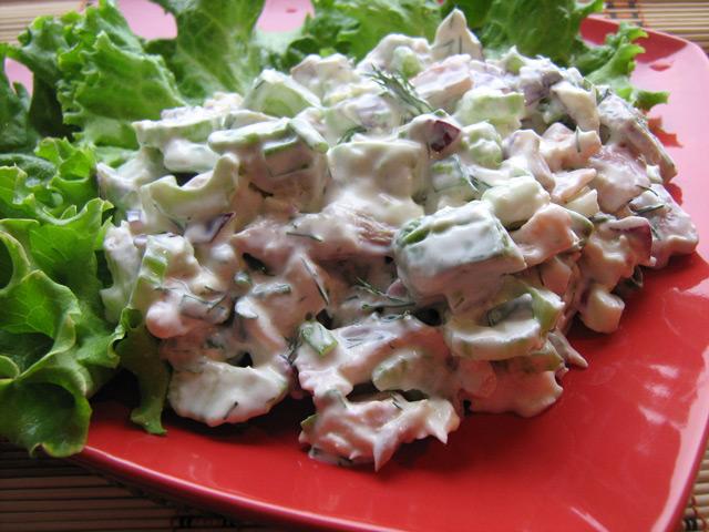 Салат из копчёной трески