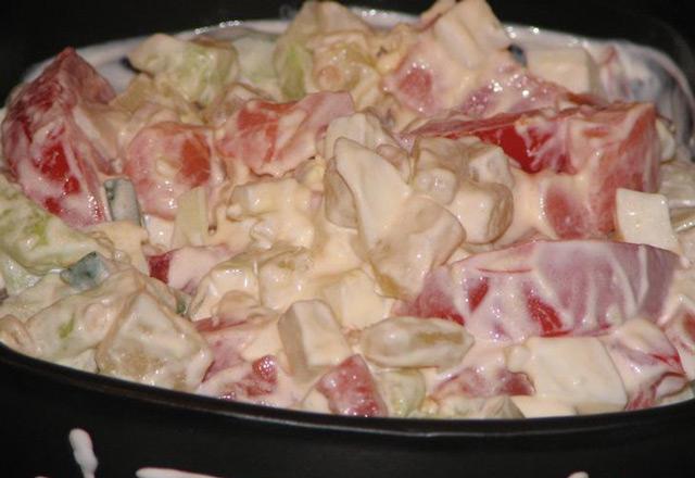 Салат с сёмгой холодного копчения