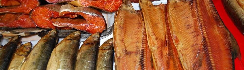 Разнообразие копчёной рыбы